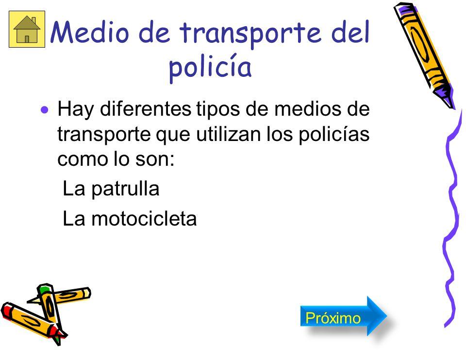 Medio de transporte del policía