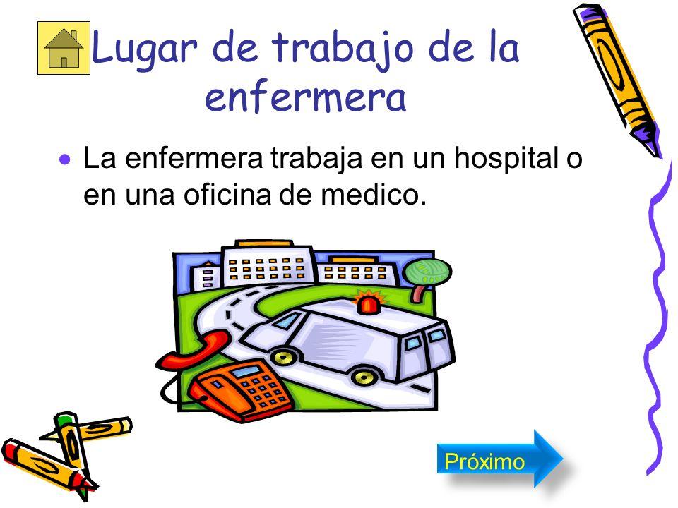 Lugar de trabajo de la enfermera