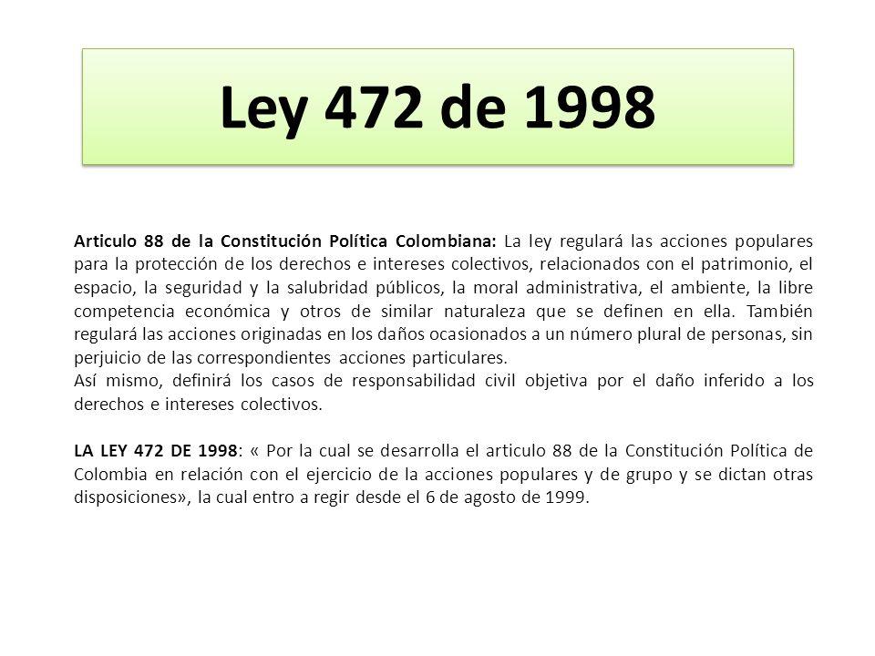 Ley 472 de 1998