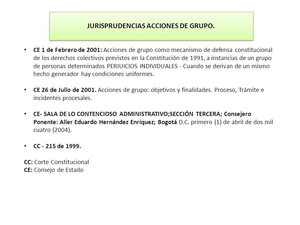 JURISPRUDENCIAS ACCIONES DE GRUPO.