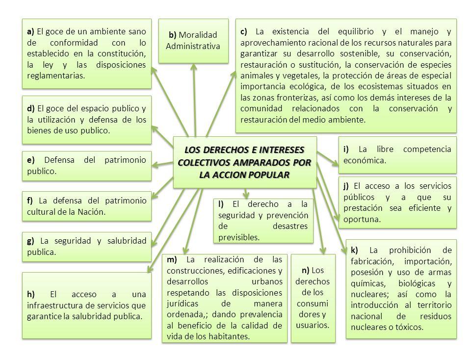 LOS DERECHOS E INTERESES COLECTIVOS AMPARADOS POR LA ACCION POPULAR