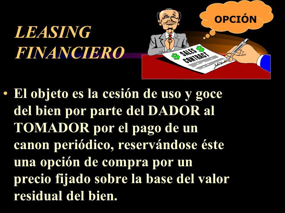 OPCIÓN LEASING FINANCIERO.
