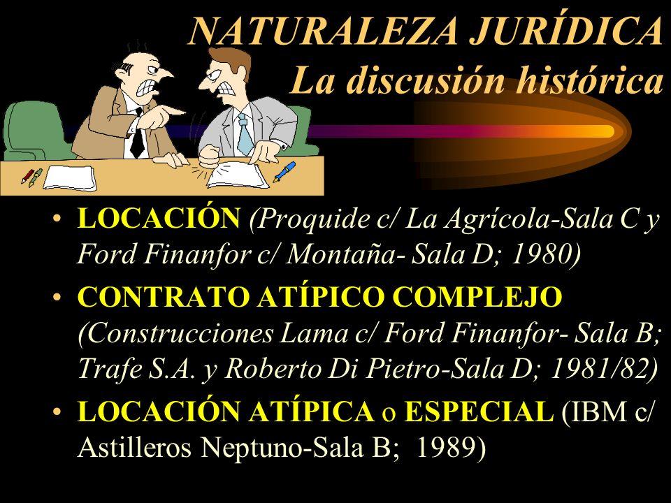 NATURALEZA JURÍDICA La discusión histórica