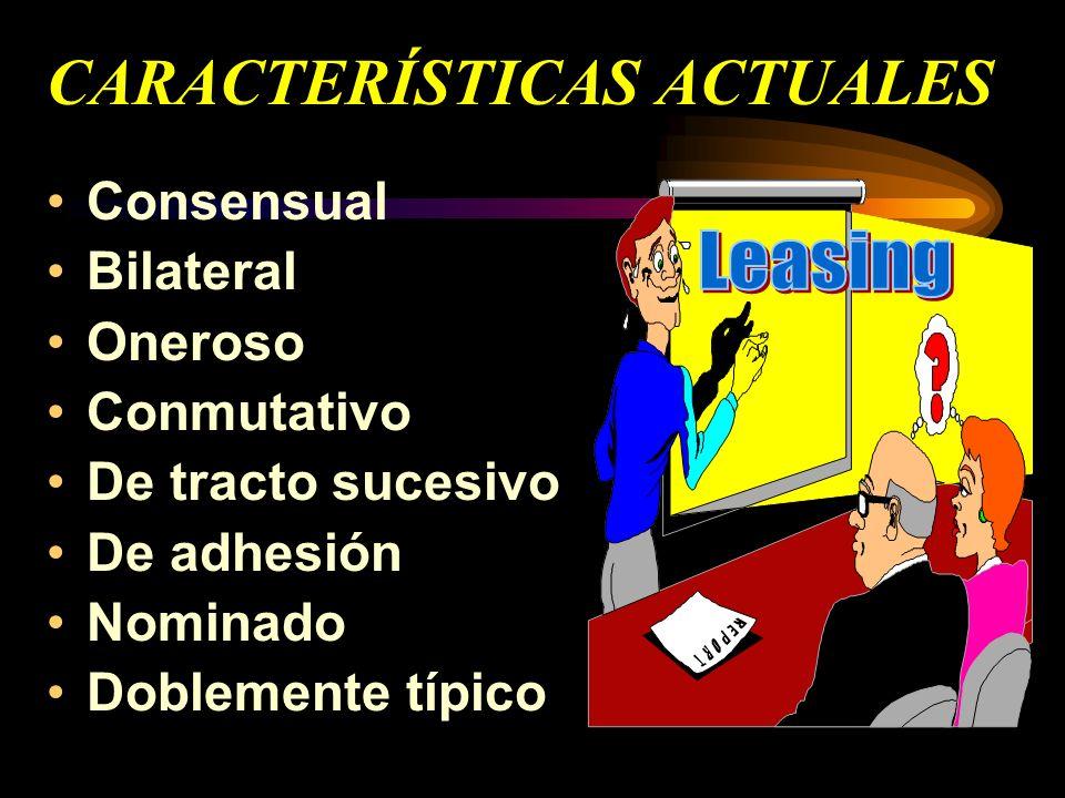 CARACTERÍSTICAS ACTUALES