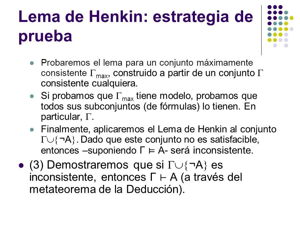 Lema de Henkin: estrategia de prueba