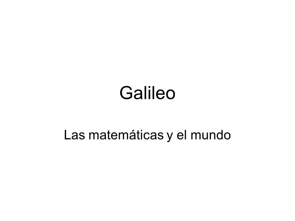 Las matemáticas y el mundo