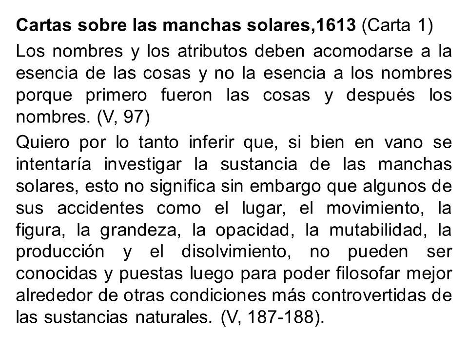 Cartas sobre las manchas solares,1613 (Carta 1)