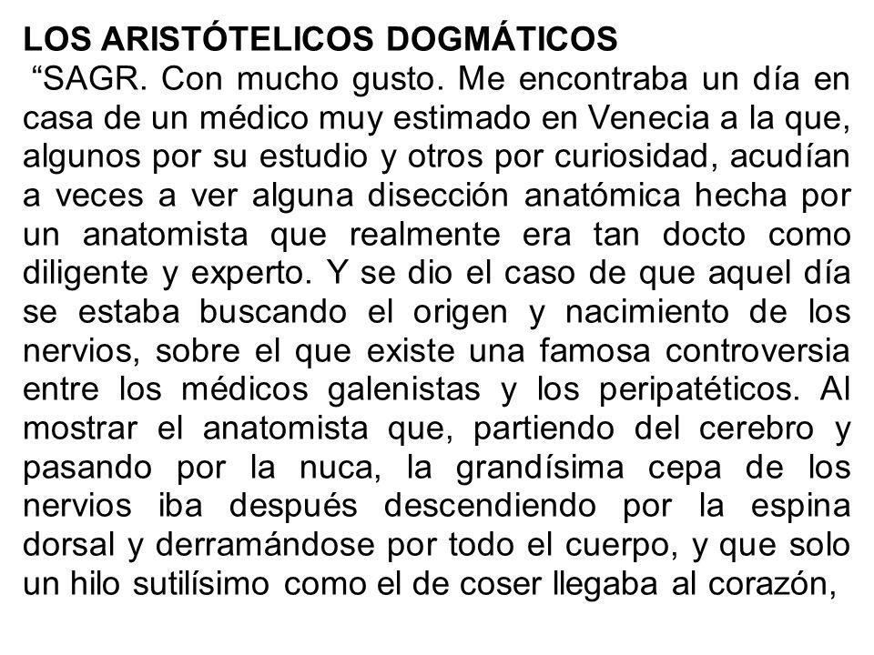 LOS ARISTÓTELICOS DOGMÁTICOS