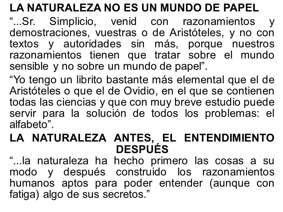 LA NATURALEZA NO ES UN MUNDO DE PAPEL