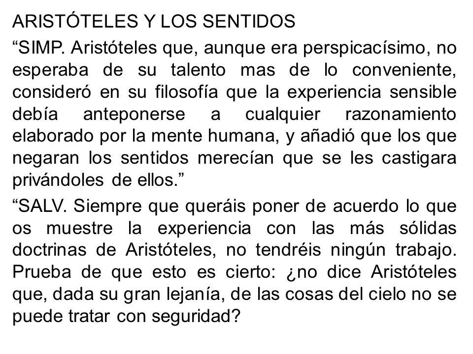 ARISTÓTELES Y LOS SENTIDOS