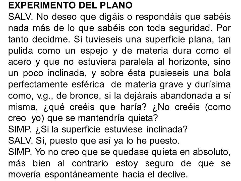 EXPERIMENTO DEL PLANO