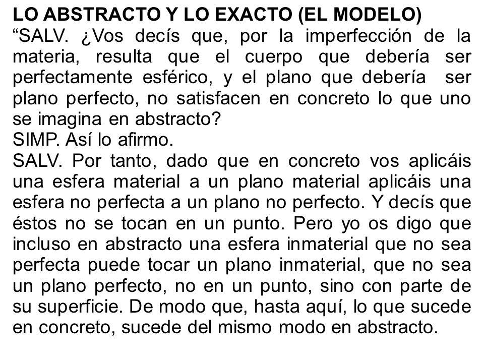 LO ABSTRACTO Y LO EXACTO (EL MODELO)