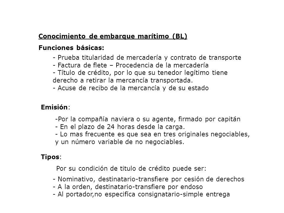 Conocimiento de embarque marítimo (BL)
