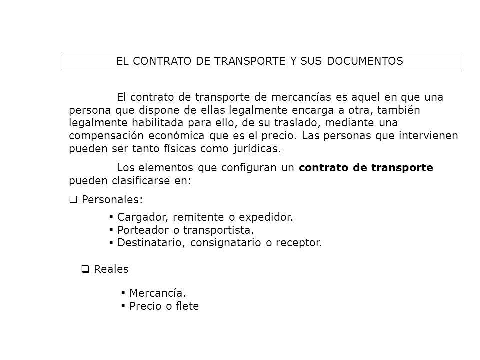 EL CONTRATO DE TRANSPORTE Y SUS DOCUMENTOS