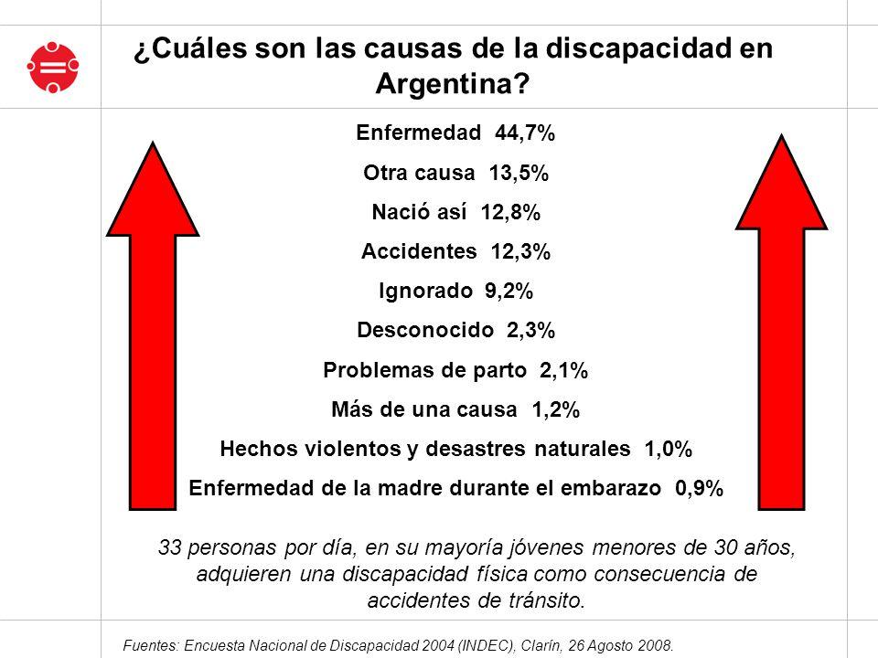 ¿Cuáles son las causas de la discapacidad en Argentina