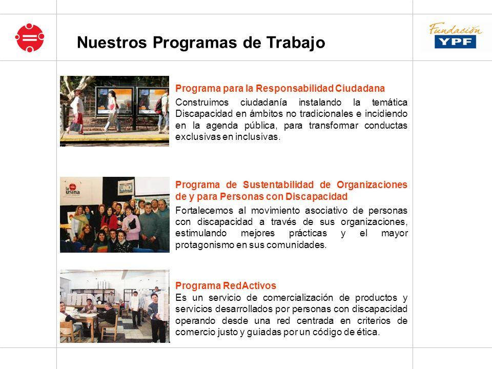 Nuestros Programas de Trabajo