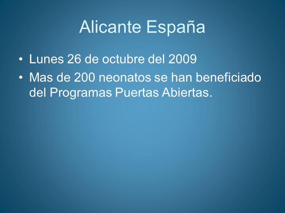 Alicante España Lunes 26 de octubre del 2009