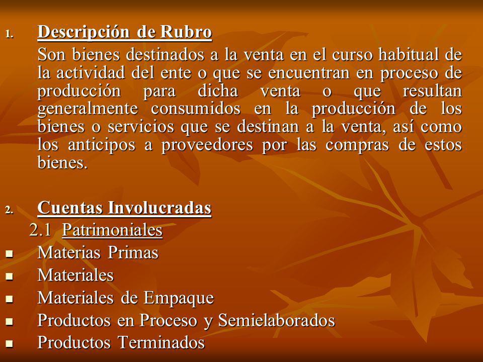 Descripción de Rubro