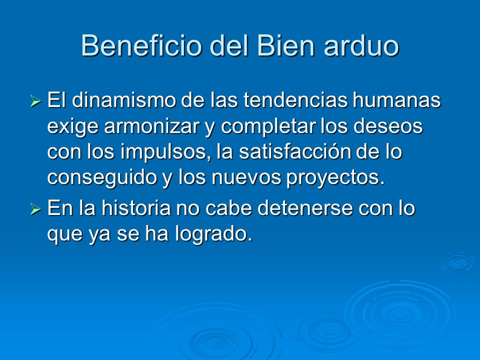 Beneficio del Bien arduo