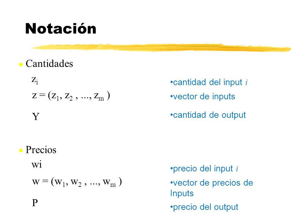 Notación zi z = (z1, z2 , ..., zm ) Y wi w = (w1, w2 , ..., wm ) P