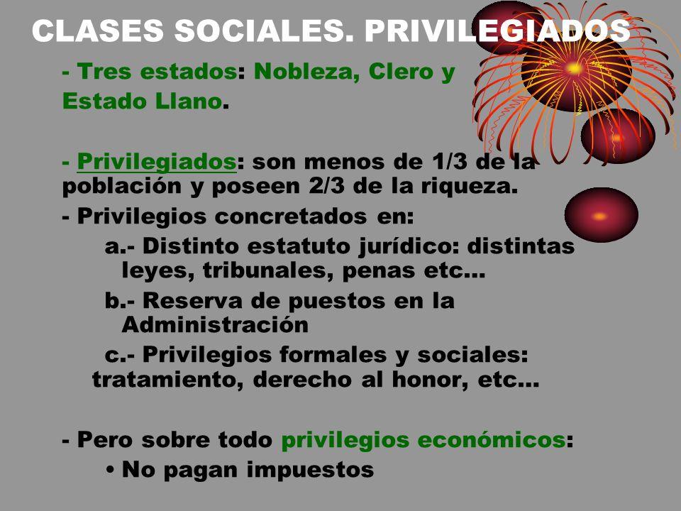 CLASES SOCIALES. PRIVILEGIADOS