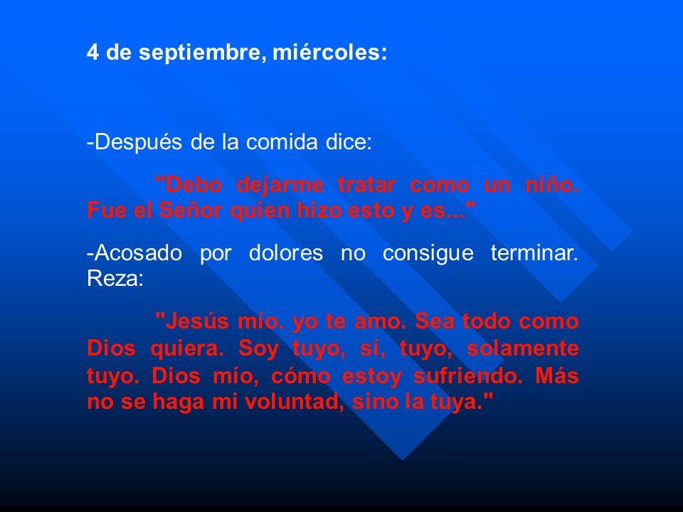 4 de septiembre, miércoles: