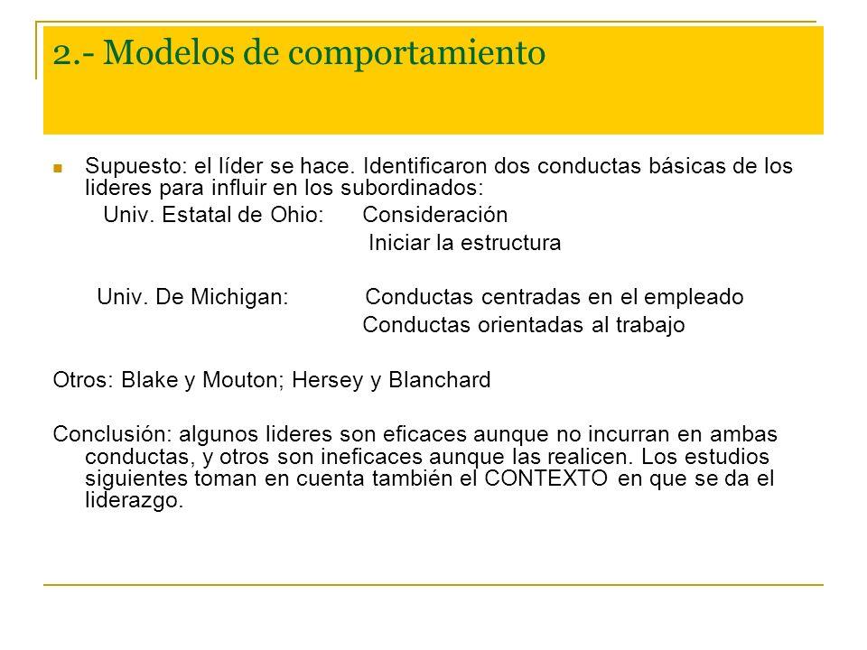 2.- Modelos de comportamiento