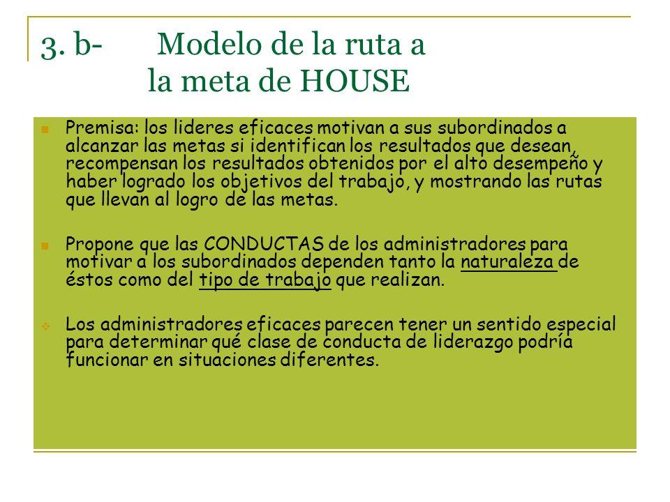 3. b- Modelo de la ruta a la meta de HOUSE