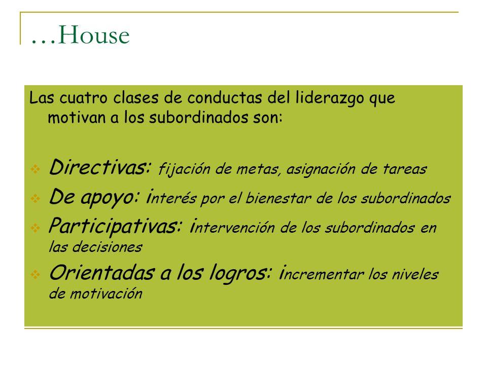 …House Directivas: fijación de metas, asignación de tareas