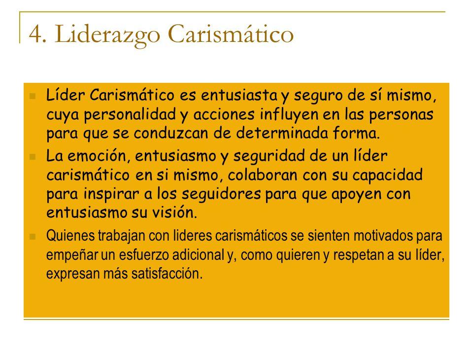 4. Liderazgo Carismático