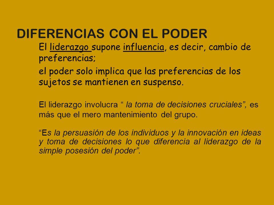 DIFERENCIAS CON EL PODER