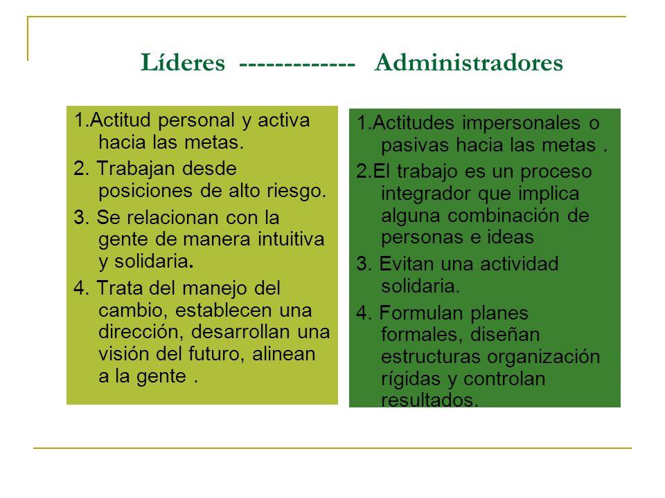 Líderes ------------- Administradores