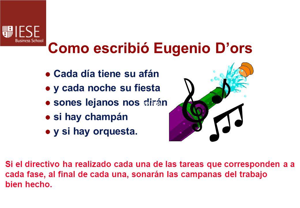 Como escribió Eugenio D'ors