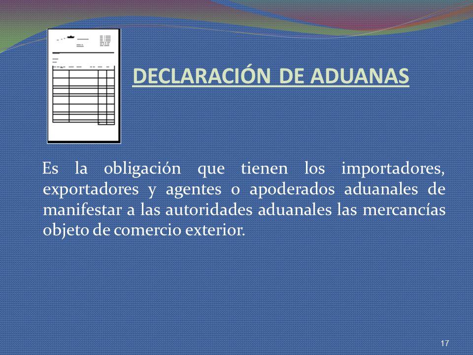 DECLARACIÓN DE ADUANAS