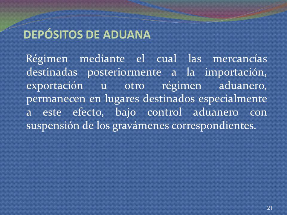 DEPÓSITOS DE ADUANA