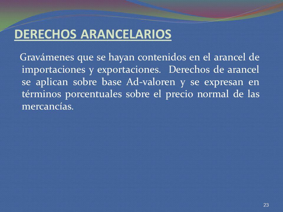 DERECHOS ARANCELARIOS