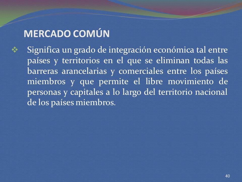 MERCADO COMÚN