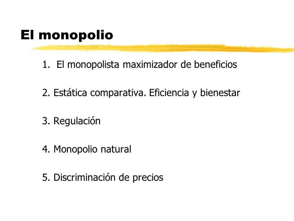 El monopolio 1. El monopolista maximizador de beneficios