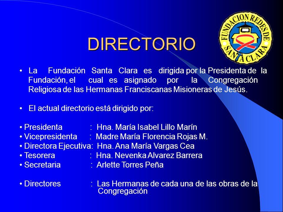 DIRECTORIO La Fundación Santa Clara es dirigida por la Presidenta de la.