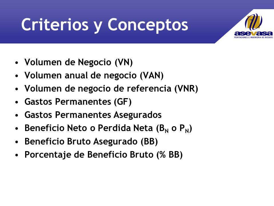 Criterios y Conceptos Volumen de Negocio (VN)