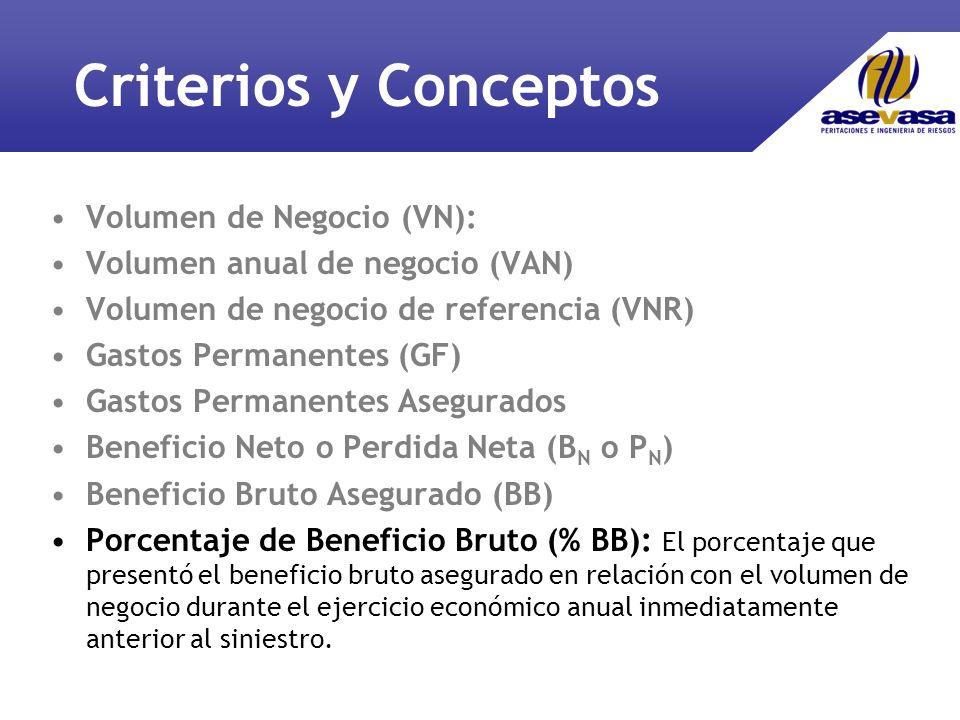 Criterios y Conceptos Volumen de Negocio (VN):