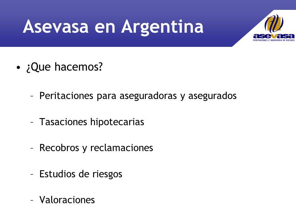 Asevasa en Argentina ¿Que hacemos