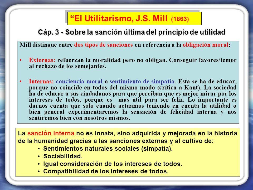 El Utilitarismo, J.S. Mill (1863)