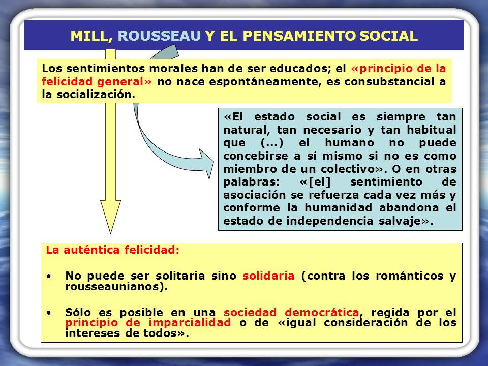 MILL, ROUSSEAU Y EL PENSAMIENTO SOCIAL