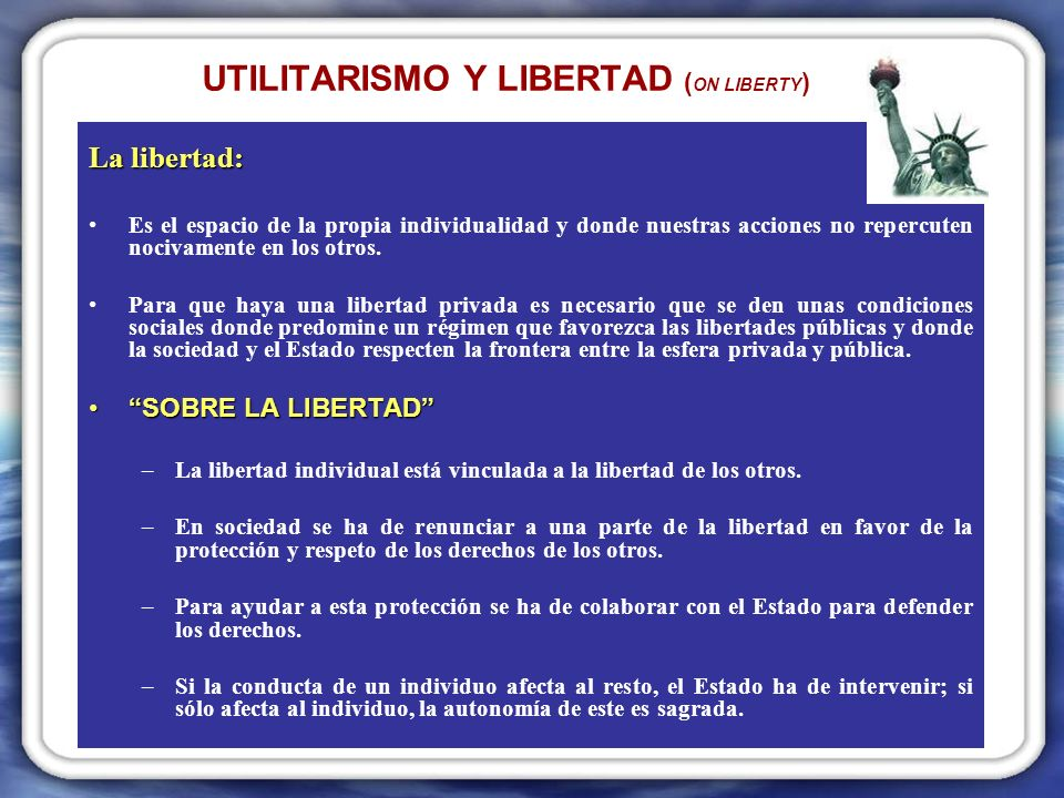 UTILITARISMO Y LIBERTAD (ON LIBERTY)