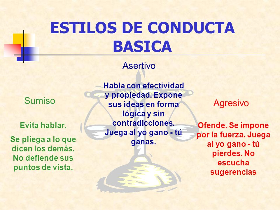 ESTILOS DE CONDUCTA BASICA