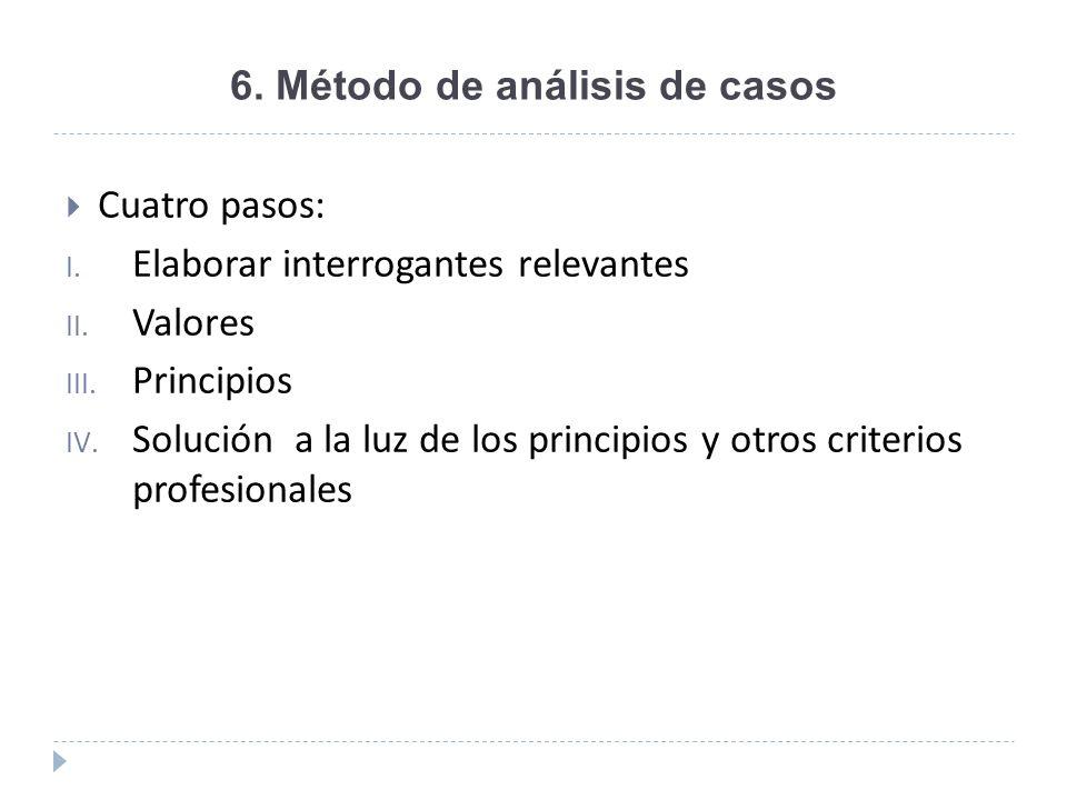 6. Método de análisis de casos