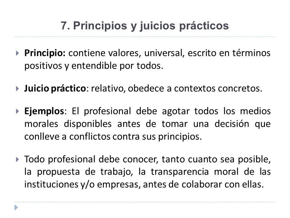 7. Principios y juicios prácticos