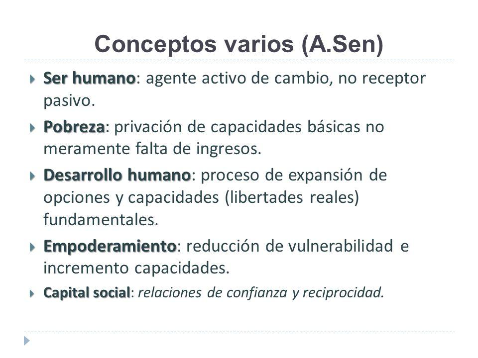 Conceptos varios (A.Sen)