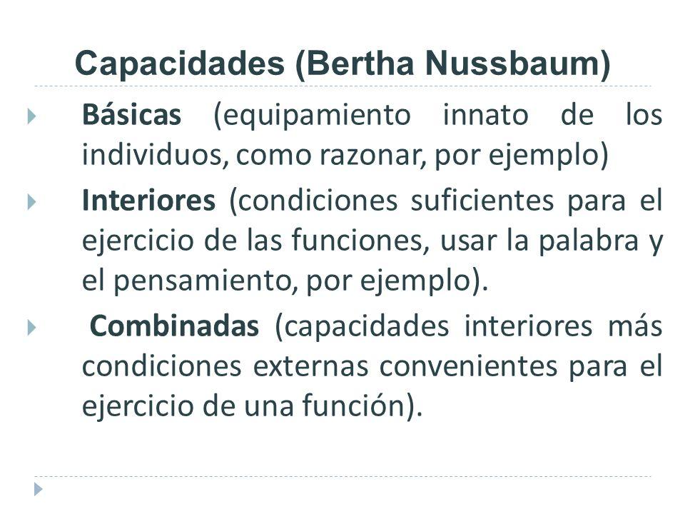 Capacidades (Bertha Nussbaum)